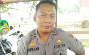 Kapolsek Kahayan Kuala, Ipda Widodo.