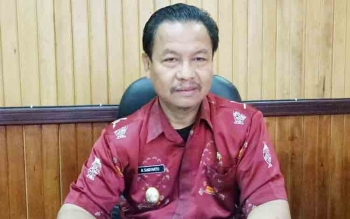 Wakil Bupati Lamandau, H. Sugiyarto, di ruang kerjanya, Kamis (9/11/2017).