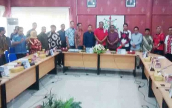 Rombongan DPRD Tanah Laut, Provinsi Kalimantan Selatan, saat berkunjung ke DPRD Kota Palangka Raya, Jumat (10/11/2017).