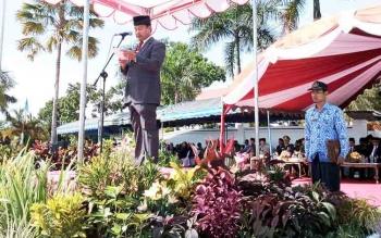 Wakil Bupati Lamandau, Sugiyarto memimpin upacara Hari Pahlawan, Jumat (10/11/2017)