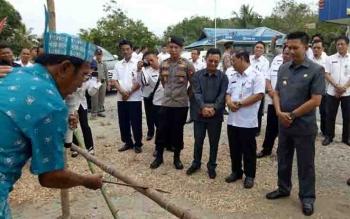 Angota DPRD Barito Utara, Taufik Nugraha menghadiri peresmian listrik desa bersama Bupati Barito Utara, Nadalsyah, baru-baru ini.