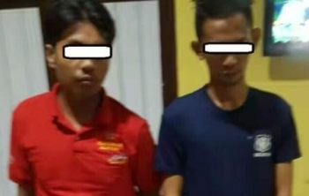 Pelaku Seorang pegawai disebuah perusahaan MA (26) dan seorang satpam Bank JU (24) yang berhasi dibekuk Satresnarkoba Polres Kapuas.