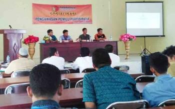 Sosialisasi pengawasan pemilu partisipatif yang digelar Panwaslu Pulang Pisau.