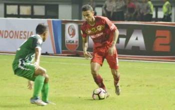 Pemain Kalteng Putra saat berlaga melawan PSMS Medan beberapa waktu lalu