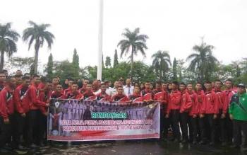Pelepasan anggota paskibra Kotim ke Jakarta.