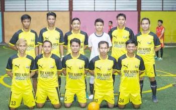 Tim Apollo salah satu tim yang lolos ke babak perempat final turnamen Golkar Cup Futsal 2017.