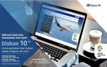 Beli Tiket di Trigana-Air.com Dapat Diskon 10 Persen