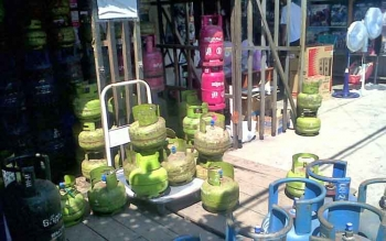 Salah satu toko yang menjual gas LPG di Kasongan