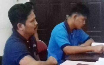 Aldi alias Aal dan Samsudin alias Ison tersangka kasus pengancaman.