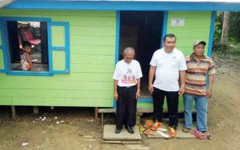 Salah satu rumah yang di rehap di wilayah Tampang Tumbang Anjir, Kecamatan Kurun, Kabupaten Gumas.