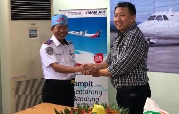 Peresmian rute baru Nam Air, di Bandara H Asan Sampit beberapa waktu lalu