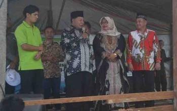 Bakal Calon Bupati Sukamara, HM Syairi di Desa Sungai Raja.