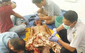 Korban kecelakaan atas nama Triwono, 30, di ruas Jalan Tewah-Tumbang Miri, Senin (20/11/2017)