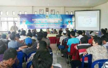 BPPD Barito Utara mengadakan sosialisasi pajak sarang burung walet di Kecamatan Montallat, Selasa (21/11/2017)