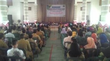 Kegiatan lokakarya panduan sekolah ramah anak di Aula Pemerintah Kabupaten (Pemkab) Kapuas, Senin (21/11/2017).