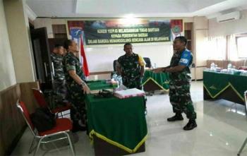 Latihan Pos Komando 1 Korem 102 Panju Panjung untuk menanggulangi bencana Karhutla, Kamis (23/11/2017)
