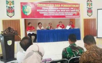 Kesbangpol Kota Palangka Raya mengadakan sosialisasi Forum Pembauran Kebangsaan (FPK), Jumat (24/11/2017)