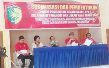 Sosialisasi Forum Pembauran Kebangsaan oleh Kesbangpol Kota Palangka Raya, Jumat (24/11/2017)