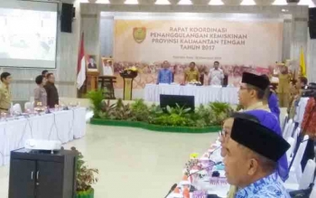 Pemprov Kalteng menggelar Rapat Koordinasi Penanggulangan Kemiskinan di Aula Bappedalitbang Provinsi di Kota Palangka Raya, Selasa (28/11/2017).