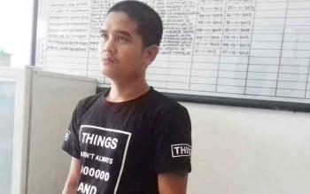 M Duriyanto alias Duri tersangka kasus pencurian sawit.