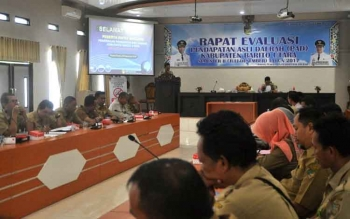 BPPD Kabupaten Barito Utara mengadakan rapat evaluasi PAD, Selasa (28/11/2017)