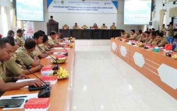 Pertemuan pemantapan advokasi dana desa untuk Upaya Kesehatan Bersumberdaya Masyarakat (UKBM) tingkat Kabupaten Barito Utara, di aula Bappeda Litbang