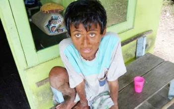 Seorang anak ditemukan tim patroli OF-UK di seberang kawasan SM Lamandau, Rabu (29/11/2017).