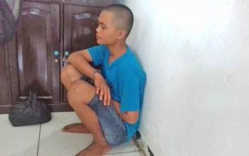 Muhammad Nur Saputra (17) tersangka kasus pencuriann.
