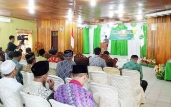 Wakil Bupati Sukamara Windu Subagio saat menyampaikan sambutan pada pengukuhan pengurus Baznas periode 2017-2022, Kamis (30/11/2017).