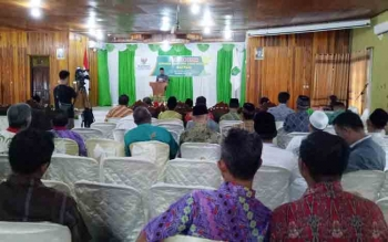 Wakil Bupati Sukamara Windu Subagio saat menyampaikan sambutan.