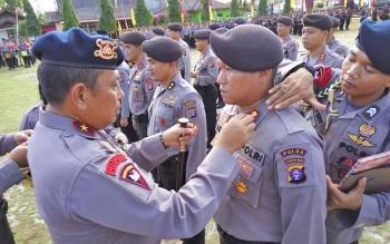 Kapolda Kalteng Brigadir Jenderal Anang Revandoko memutasi tujuh kapolres, Kamis (30/11/2017).
