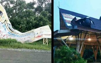 Sejumlah fasilitas yang rusak di Kabupaten Pulang Pisau.