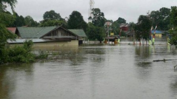 Banjir merendam pemukiman warga di Kabupaten Barsel