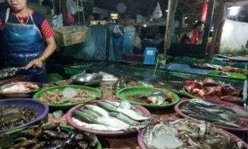 Ikan yang di jual di Pasar Kuala Kurun, Kabupaten Gunung Mas.