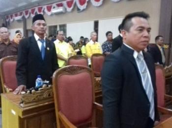 Anggota Komisi IV DPRD Kotim Iswanur (depan).