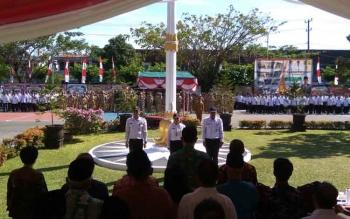 Peringatan Hari Bakti (Harbak) ke-72 Pekerjaan Umum 2017 di halaman kantor Dinas PUPR Kalteng, Senin (4/12/2017).\\r\\n