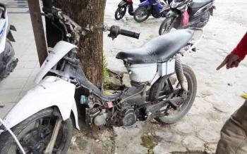 Inilah motor yang digunakan korban. Saat ini diamankan di Polres Palangka Raya.
