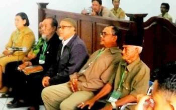 Saksi yang dihadirkan dalam sidang sengketa tanah yang berbuntut kriminalisasi 4 ASN Kobar