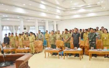 Sosialisasi Kebijakan Pengakuan Keberadaan Masyarakat Hukum Adat Kabupaten Barito Utara di Gedung Balai Antang, Muara Teweh, Selasa (5/12/2017).