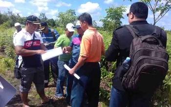 Sidang pemeriksaan setempat (PS) terkait sengketa tanah, di kawasan Kelurahan Baamang Hulu.
