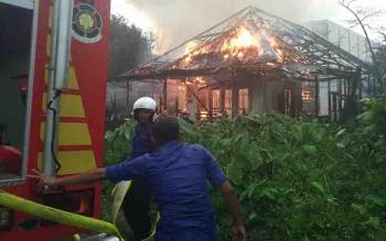 Kebakaran di Jalan Caman, Sampit.