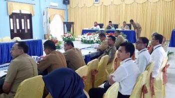Wakil Bupati Sukamara Windu Subagio saat memberikan paparan di aula Bappeda, beberapa waktu lalu.