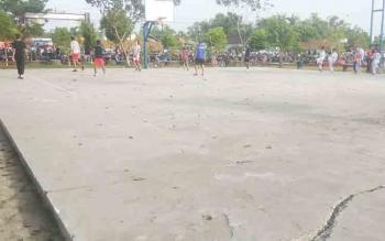 Lapangan basket di kawasan olahraga Stadion 29 November Sampit.