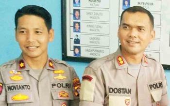 Kapolres Barito Utara, AKBP Dostan Matheus Siregar dan Wakapolres Barut, Kompol Novianto Tarjono