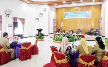 Suasana kegiatan raker staf ahli se Kalteng di Aula Kantor BKD Lamandau, Senin (11/12/2017)