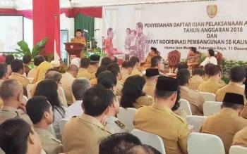 Gubernur Sugianto beri arahan usai penyerahan DIPA 2018