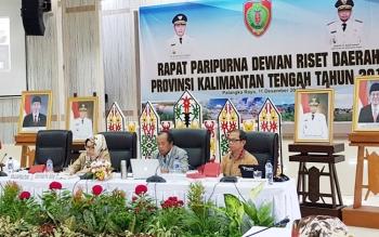 Dewan riset daerah (DRD) Kalteng gelar rapat Paripurna di Aula Bappedalitbang Kalteng, Senin