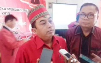 Ketua DPC PDI Perjuangan Rimbun yang juga anggota DPRD Kotim.