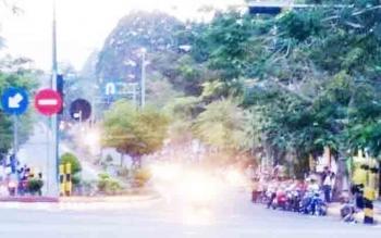 Balap liar yang dilakukan anak mida di Jalan Sutan Syahrir, Pangkalan Bun, beberapa waktu lalu