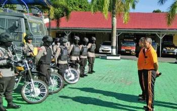 Inilah personil Tim Cyber Troops Polres Kobar yang personelnya terdiri dari 18 Srikandi Polwan Polres Kobar